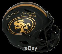 Joe Montana & Jerry Rice Signed San Francisco 49ers Full Size Eclipse Helmet Bas
