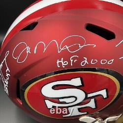 Joe Montana Jerry Rice Steve Young Signed 49ers Blaze Full Size Helmet Beckett 1