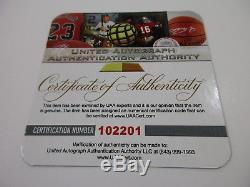 Joe Montana NFL Hall Of Fame Hand Signed 49ers Custom Football Jersey Coa