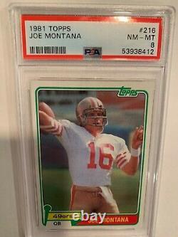 Joe Montana PSA 8 Topps #216 RC NM-MT HOF 49ers Rookie HOT HOF