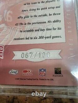 Joe Montana Quantum Leaf All Millennium Marks Auto San Francisco 49ers