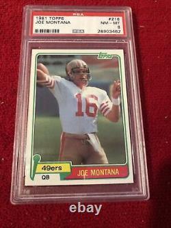 Joe Montana ROOKIE CARD PSA 8 NM / Relisted Due To Buyer Error
