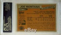 Joe Montana Rc 1981 #216 Topps Signed Autograph Hof Rookie Card 49ers Psa