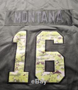Joe Montana Salute To Service Jersey (s, M, L, Xl, Xxl, Xxxl) Nwt