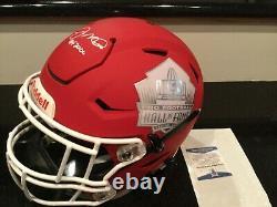 Joe Montana San Francisco 49ers signed adult large speedflex HOF helmet Beckett