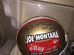 Joe Montana Signed Full Size NFL Helmet San Francisco 49ers HOF 2000 COA