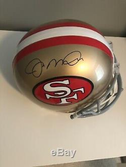 Joe Montana Signed Full Size San Francisco 49ers Replica Helmet JSA WITNESSED