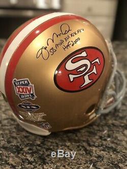 Joe Montana Signed & Inscribed SF 49ers HOFER CUSTOM Decals Proline FULL helmet