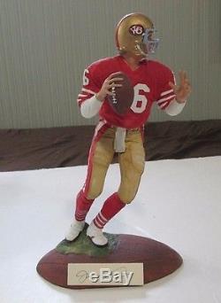 Joe Montana Signed Large Gartlan San Francisco 49er Figurine withcert & box