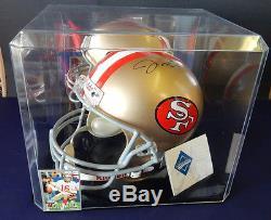 Joe Montana autograph helmet upper deck certified San Francisco 49ers Riddell