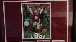 Joe montana san francisco 49ers 4 time superbowl champ framed display 70/500