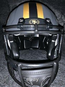 Joe montana signed San Francisco 49ers full size eclipse helmet beckett