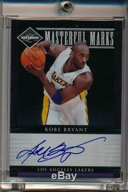 KOBE BRYANT 11-12 Limited Masterful Marks On-Card Auto SP 44/50 Lakers Autograph