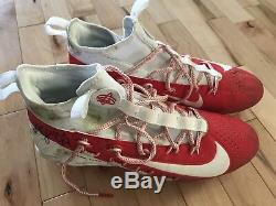 Kyle Juszczyk 2018 Game Used Autographed Worn Cleats San Francisco 49ers ProBowl