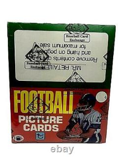 LAST ONE FASC 1981 Topps Football Rack Box BBCE Montana RC (From A Sealed Case)