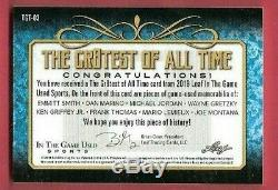 Michael Jordan Joe Montana Ken Griffey Gretzky Marino Lemieux Jersey Card