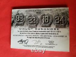 Michael Jordan Joe Montana Wayne Gretzky Ken Griffey Game Used Jersey Card #7/9