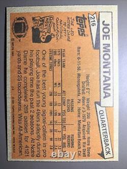 Mint! Perfect! 1981 Topps Joe Montana Rookie Razor Corners Centered-psa 10 #99c