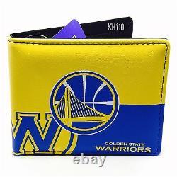 NBA Golden State Warriors Men's Printed Logo Bi-Fold Wallet