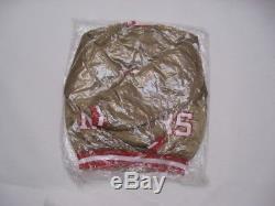 NEW DEADSTOCK Vintage SAN FRANCISCO 49ers Gold CHALK LINE Jacket Size MEDIUM
