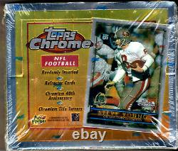 NFL 1996 Topps Chrome Factory Sealed Football Hobby Box Refractors RC rookies