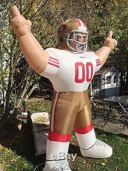 NFL SAN Francisco 49ers Inflatable AirBlown 8' Tiny Blow Up Football Player Gear
