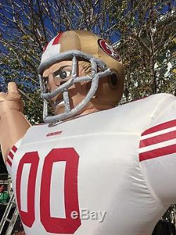NFL SAN Francisco 49ers Inflatable AirBlown 8' Tiny Blow Up Yard Football Player