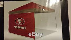 NFL San Francisco 49ers 9'x9' Canopy with Wall