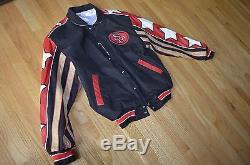NFL San Francisco 49ers Jeff Hamilton Genuine Mens Leather Jacket Large Size L