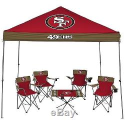 NFL San Francisco 49ers Large Football Team Tailgate Party Kit -9x9 Canopy Set