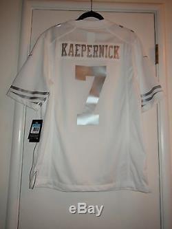 NFL San Francisco 49ers Nike 607047 Platinum Jersey Colin Kaepernick 7 $160 Nwt