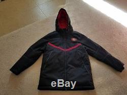 NFL San Francisco 49ers Nike On Field Storm Fit 550 Down Jacket Parka Mens Large