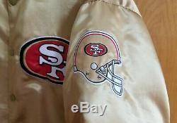 NFL San Francisco 49ers Vintage Starter/Chalk Line Style Gold XL Satin Jacket