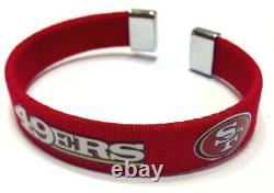 NFL San Francisco 49ers Wrist Band Bracelet Official Licensed