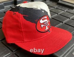 NWOT Vintage 90s San Francisco 49ers Logo Athletic Splash Snapback Hat Cap NFL