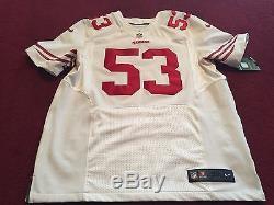 NWT SAN FRANCISCO 49ers AUTHENTIC NIKE ELITE JERSEY NFL BOWMAN WHITE AWAY 48 XL