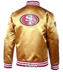 New Era San Francisco 49ers NFL F O R Sateen Bomber College Jacket Jacke Gold