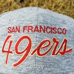 New VTG San Francisco 49ers SPORTS SPECIALTIES Heather Script Snapback Hat