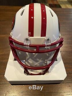 Nick Bosa Autographed San Francisco 49ers White Matte Mini Helmet Beckett