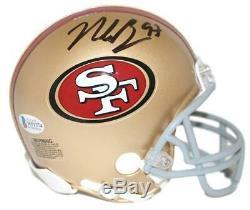 Nick Bosa Autographed/Signed San Francisco 49ers Mini Helmet BAS 25858
