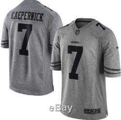 Nike San Francisco 49ers Colin Kaepernick Gray Gridiron Limited Jersey Sz XL NWT