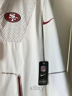 Nike Vapor Speed Fly Rush Flash NFL 49ers Men's Training Jacket Sz XL