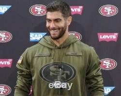 Nwt Nike 2018 San Francisco 49ers Salute To Service Hoodie media Jimmy Garoppolo
