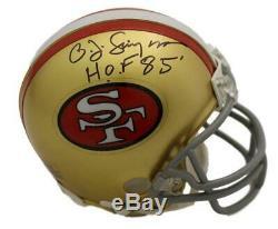 OJ Simpson Autographed/Signed San Francisco 49ers Mini Helmet HOF JSA 21751