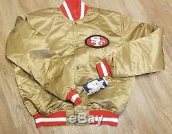 ORIGINAL NEW XL San Francisco 49ers Starter Satin Jacket Vintage 80s 90s