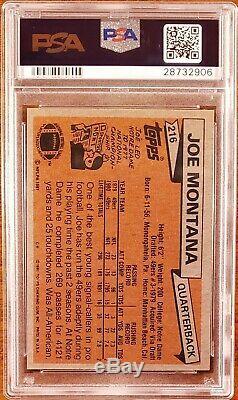 PSA 8 1981 1986 Topps JOE MONTANA JERRY RICE RC Great HOF Rookie Combo