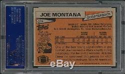 PSA 9++ Mint 1981 Topps #216 Joe Montana RC high end, centered 50/50