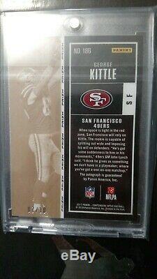 Panini George Kittle Auto Rookie Gold Prizm Card #7/10 Rare