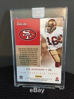 Panini One SSP Joe Montana Auto (on card)