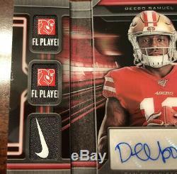 Panini Rookie Signature Locker Deebo Samuel 1/1 RPA Auto NFL Patch x4 Nike x2